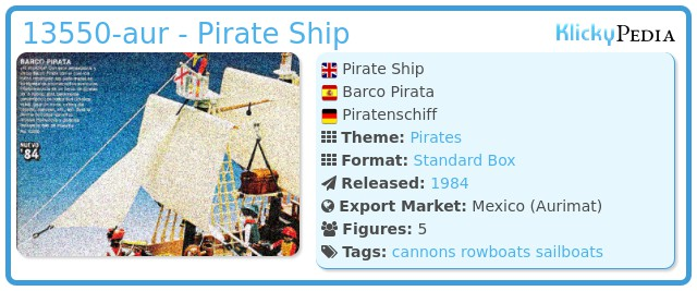 Playmobil 13550-aur - Pirate Ship