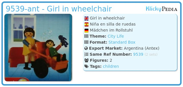 Playmobil 9539-ant - Girl in wheelchair