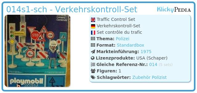 Playmobil 014s1-sch - Verkehrskontroll-Set