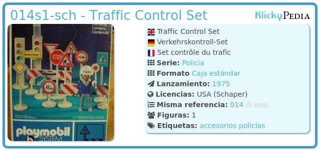 Playmobil 014s1-sch - Traffic Control Set