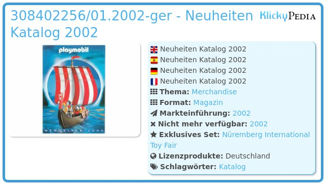 Playmobil 00000-ger - Neuheiten Katalog 2002