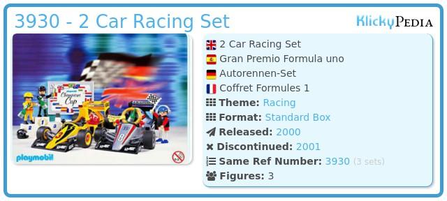 Playmobil 3930 - 2 Car Racing Set