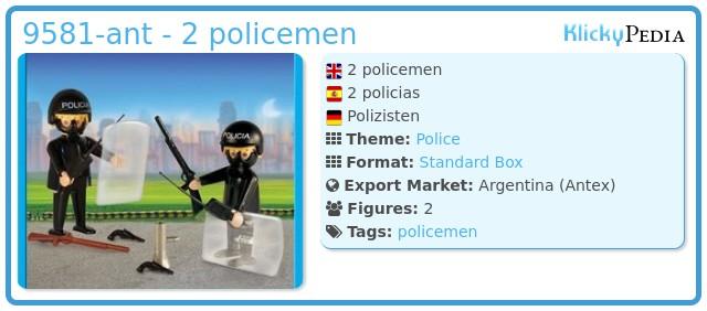 Playmobil 9581-ant - 2 policemen