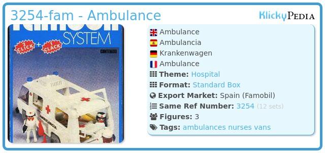 Playmobil 3254-fam - Ambulance