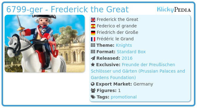 Playmobil 6799-ger - Frederick the Great