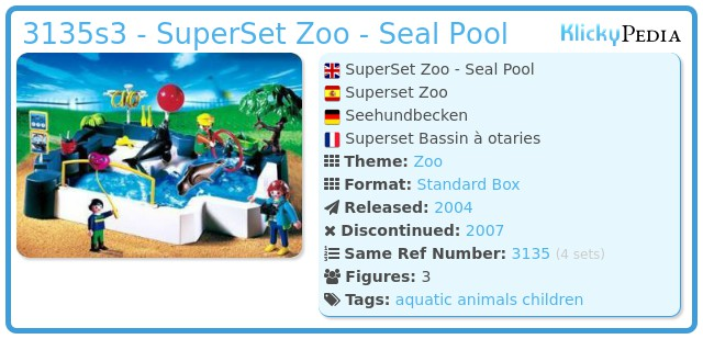 Playmobil 3135s3 - SuperSet Zoo - Seal Pool