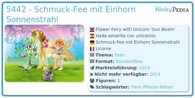 Playmobil 5442 - Schmuck-Fee mit Einhorn Sonnenstrahl