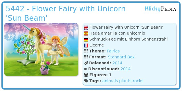 Playmobil 5442 - Flower Fairy with Unicorn 'Sun Beam'