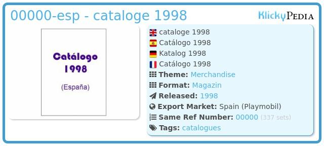 Playmobil 00000-esp - cataloge 1998