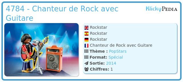 Playmobil 4784 - Chanteur de Rock avec Guitare