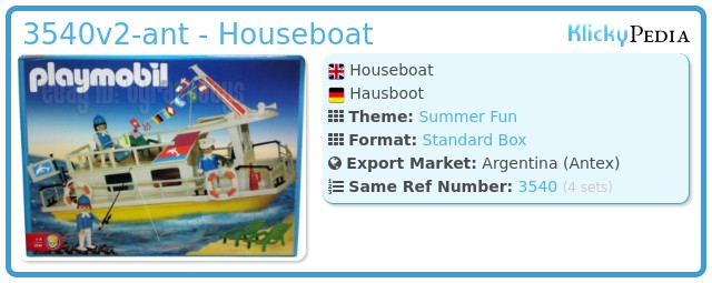 Playmobil 3540v2-ant - Houseboat