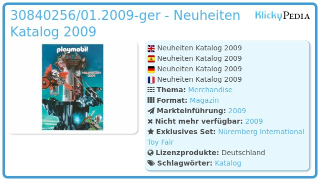 Playmobil 30840256/01.2009-ger - Neuheiten Katalog 2009