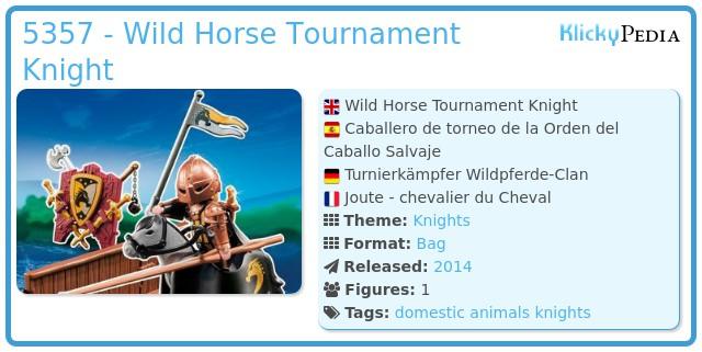 Playmobil 5357 - Wild Horse Tournament Knight