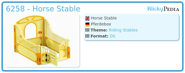 Playmobil 6258 - Horse Stable