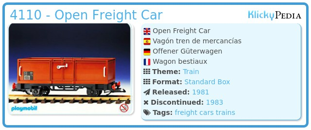 Playmobil 4110 - Open Freight Car