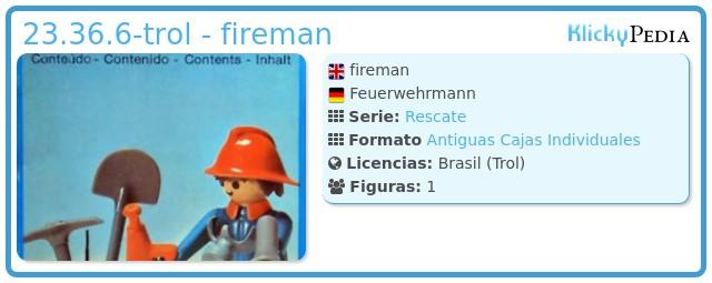 Playmobil 23.36.6-trol - fireman