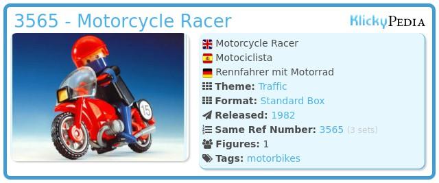 Playmobil 3565 - Motorrad/Rennfahrer
