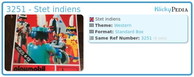 Playmobil 3251 - Stet indiens