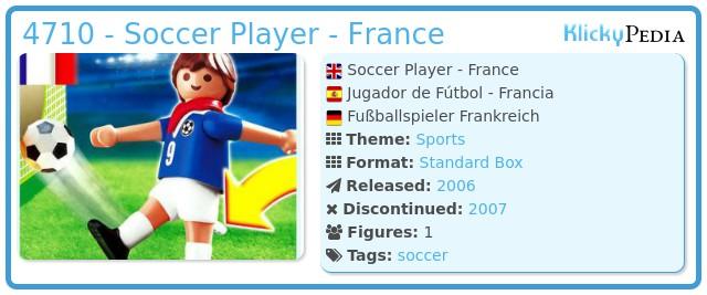 Playmobil 4710 - Soccer Player - France