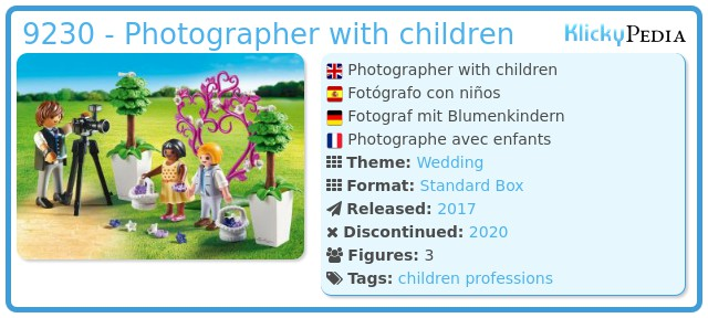 Playmobil 9230 - Photographer with children