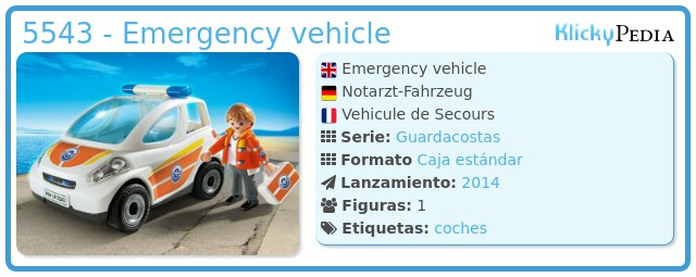 Playmobil 5543 - Emergency vehicle