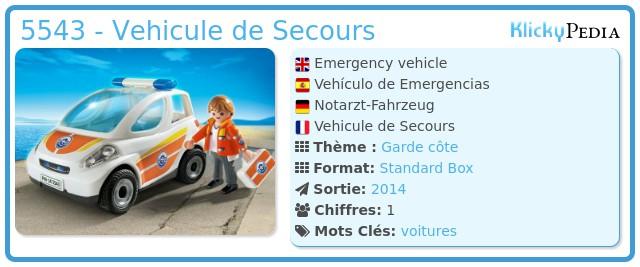 Playmobil 5543 - Emergency vehicle