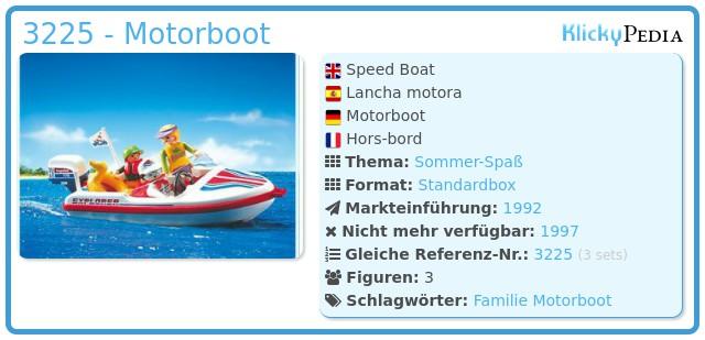 Playmobil 3225 - Motorboot