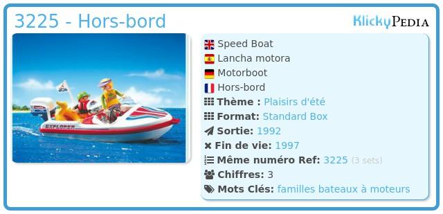 Playmobil 3225 - Hors-bord