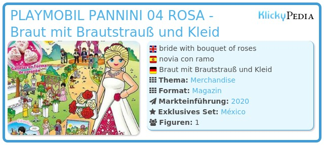 Playmobil PLAYMOBIL PANNINI 04 ROSA - bride with bouquet of roses