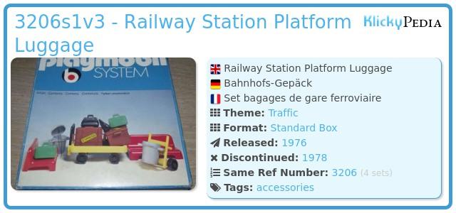 Playmobil 3206s1v3 - Railway Station Platform Luggage