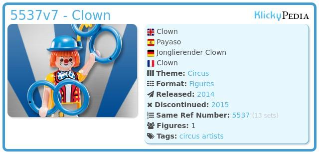 Playmobil 5537v7 - Clown