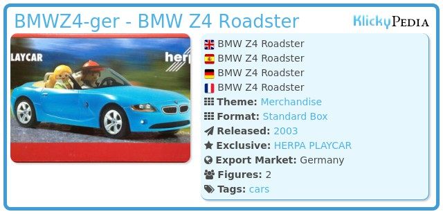 Playmobil BMWZ4-ger - BMW Z4 Roadster