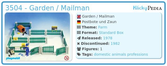 Playmobil 3504 - Garden / Mailman