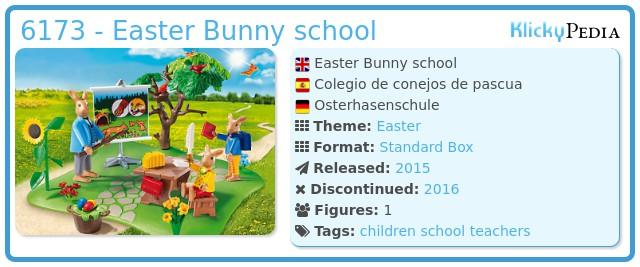 Playmobil 6173 - Easter Bunny school