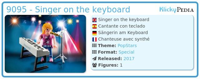 Playmobil 9095 - Singer on the keyboard