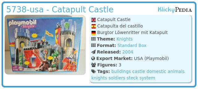 Playmobil 5738-usa - Catapult Castle