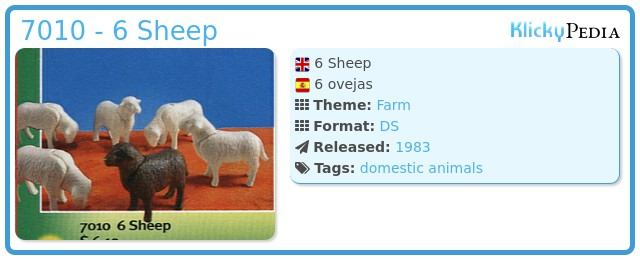 Playmobil 7010 - 6 Sheep