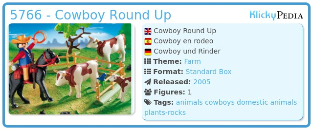 Playmobil 5766 - Cowboy Round Up