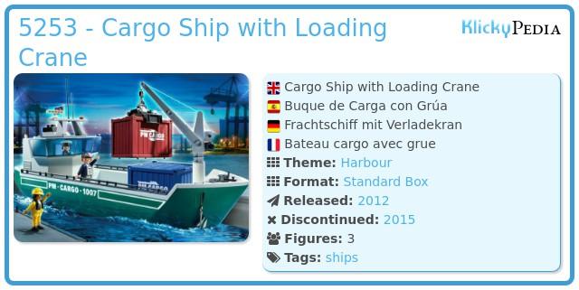 Playmobil 5253 - Cargo Ship with Loading Crane