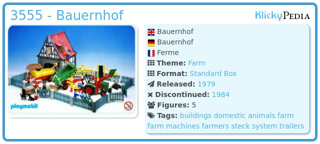 Playmobil 3555 - Bauernhof