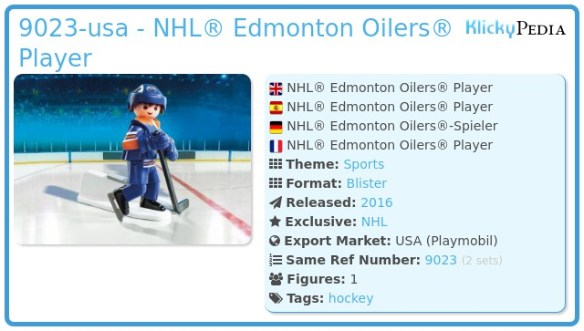 Playmobil 9023-usa - NHL® Edmonton Oilers® Player