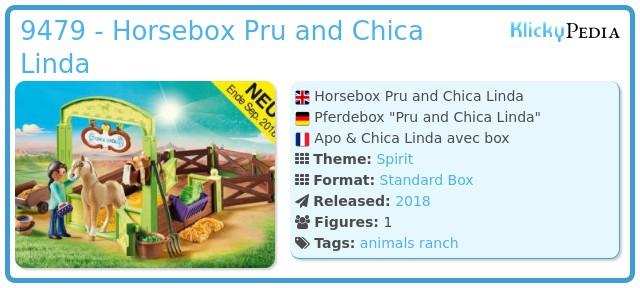 Playmobil 9479 - Horsebox Pru and Chica Linda