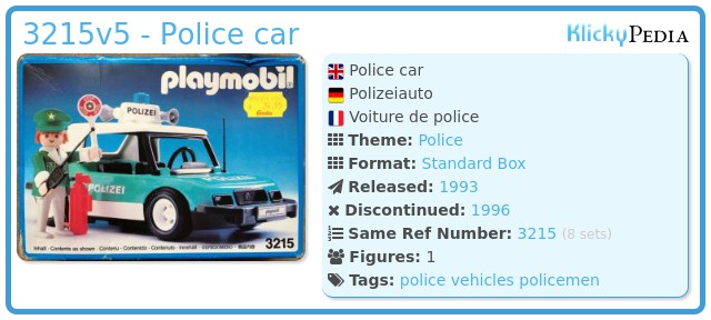 Playmobil 3215v5 - Police car
