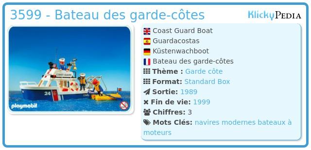 Playmobil 3599 - Coast Guard Boat