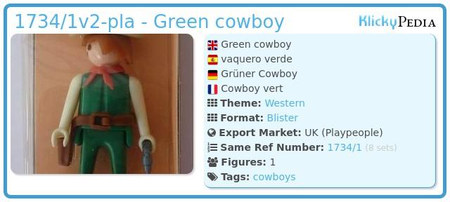 Playmobil 1734/1v2-pla - Green cowboy