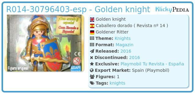 Playmobil R014-30796403-esp - Golden knight
