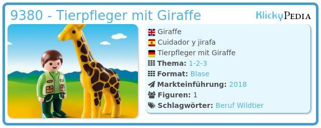 Playmobil 9380 - Tierpfleger mit Giraffe