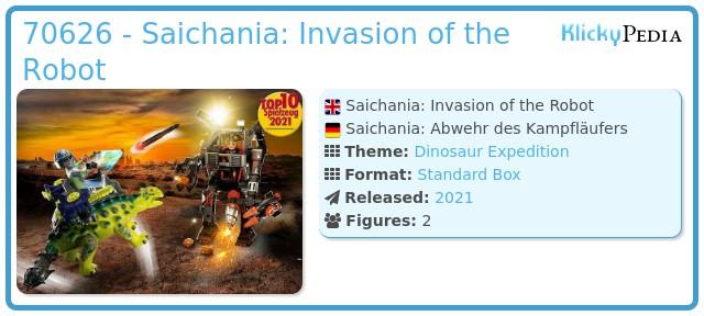 Playmobil 70626 - Dino Rise Saichania: Invasion of the Robot
