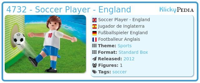 Playmobil 4732 - Soccer Player - England