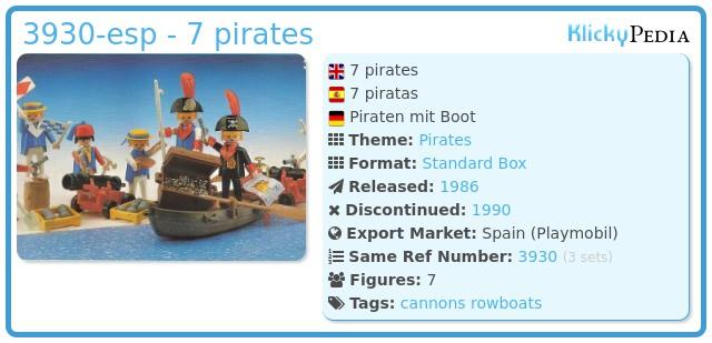 Playmobil 3930-esp - 7 pirates
